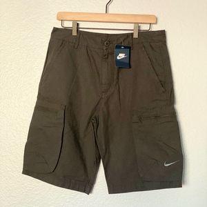 NIKE Gray Men's Woven Performance Cargo Shorts